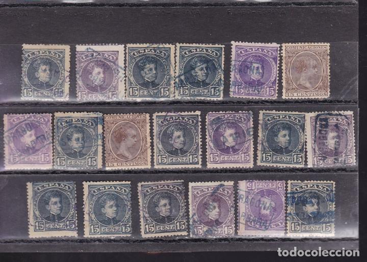 Sellos: ST- Alfonso XIII . Lote de 152 sellos Matasellos CARTERIA TARRAGONA. Ver 8 Imágenes - Foto 4 - 180134198