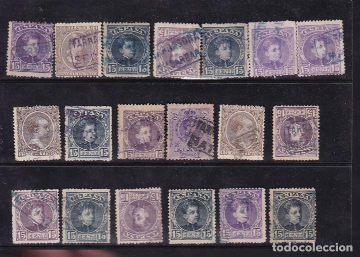 Sellos: ST- Alfonso XIII . Lote de 152 sellos Matasellos CARTERIA TARRAGONA. Ver 8 Imágenes - Foto 5 - 180134198
