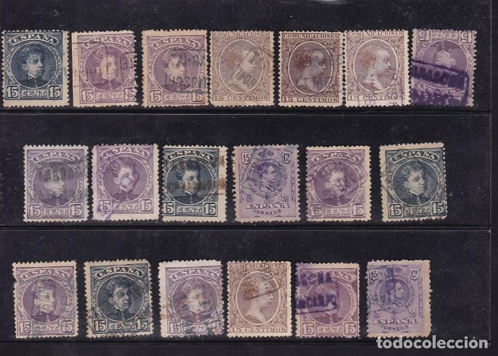 Sellos: ST- Alfonso XIII . Lote de 152 sellos Matasellos CARTERIA TARRAGONA. Ver 8 Imágenes - Foto 6 - 180134198