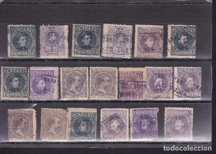 Sellos: ST- Alfonso XIII . Lote de 152 sellos Matasellos CARTERIA TARRAGONA. Ver 8 Imágenes - Foto 7 - 180134198