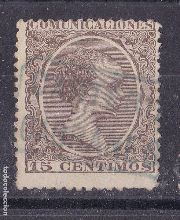 CC7-ALFONSO XIII PELÓN . MATASELLOS CARTERÍA CABRANES OVIEDO (Sellos - España - Alfonso XIII de 1.886 a 1.931 - Usados)