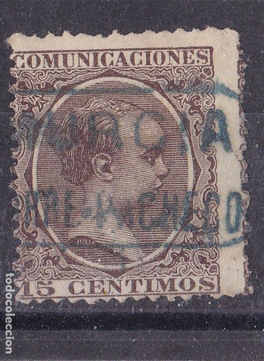 CC8-ALFONSO XIII PELÓN . MATASELLOS CARTERÍA TORREPACHECO MURCIA (Sellos - España - Alfonso XIII de 1.886 a 1.931 - Usados)