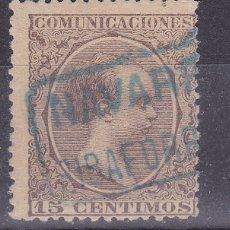 Sellos: CC8-ALFONSO XIII PELÓN . MATASELLOS CARTERÍA RIBAFORRADA NAVARRA. Lote 180137162