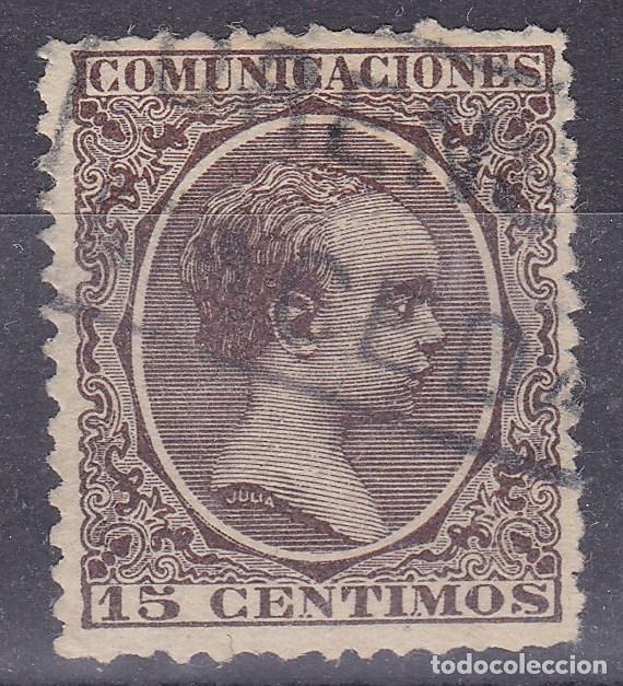 MM4-ALFONSO XIII PELÓN . MATASELLOS CARTERÍA MACEDA ORENSE (Sellos - España - Alfonso XIII de 1.886 a 1.931 - Usados)