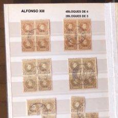 Sellos: ALFONSO XIII-7(22SELLOS EN BLOQUES)(30€). Lote 180264813