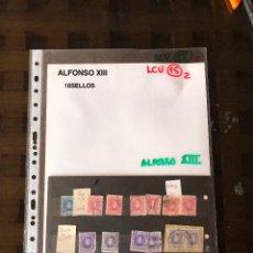 Sellos: ALFONSO XIII(18SELLOS)(18€). Lote 180266190