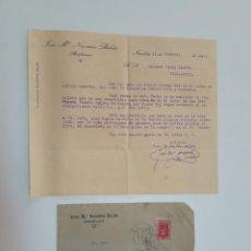 Sellos: 1924 CARTA NOVELDA VILLAJOYOSA. Lote 180293230