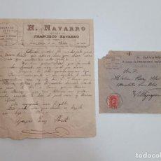 Sellos: 1926 CARTA CON SOBRE Y SELLO VILLENA VILLAJOYOSA. Lote 180293235