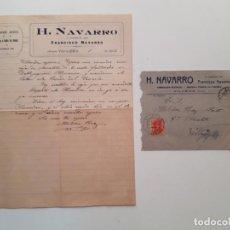 Sellos: 1926 CARTA CON SOBRE Y SELLO VILLENA VILLAJOYOSA. Lote 180293241