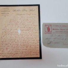 Sellos: 1913 CARTA CON SOBRE Y SELLO VILLAJOJOSA VALENCIA. Lote 180293251