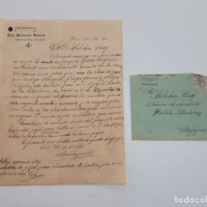 Sellos: 1920 CARTA CON SOBRE Y SELLO DENIA VILLAJOJOSA. Lote 180293255