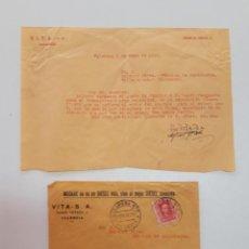 Sellos: 1928 CARTA CON SOBRE Y SELLO VALENCIA VILLAJOJOSA. Lote 180293256