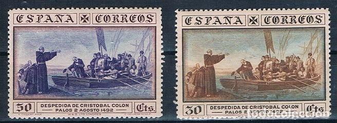ESPAÑA 1930 COLON EDIFIL 540 Y 542 MNH** GOMA ORIGINAL DOS FOTOGRAFÍAS 47€ (Sellos - España - Alfonso XIII de 1.886 a 1.931 - Nuevos)