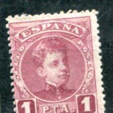 Sellos: EDIFIL 253. 1 PTA ALFONSO XIII, TIPO CADETE. NUEVO CON FIJASELLOS.. Lote 180495425