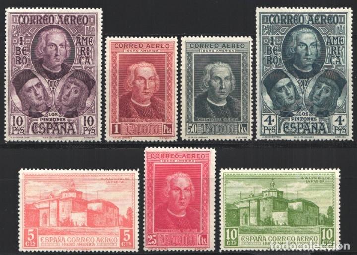 1930 EDIFIL Nº 559 / 565 /*/, DESCUBRIMIENTO DE AMÉRICA (Sellos - España - Alfonso XIII de 1.886 a 1.931 - Nuevos)