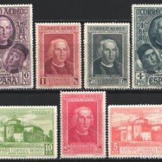 Sellos: 1930 EDIFIL Nº 559 / 565 /*/, DESCUBRIMIENTO DE AMÉRICA . Lote 180894156