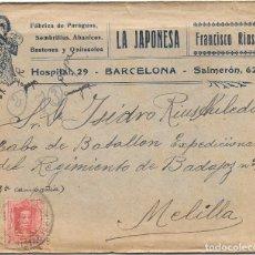 Sellos: GUERRA DE AFRICA EDIFIL Nº 317. DE BARCELONA A MELILLA 1925. Lote 181073296