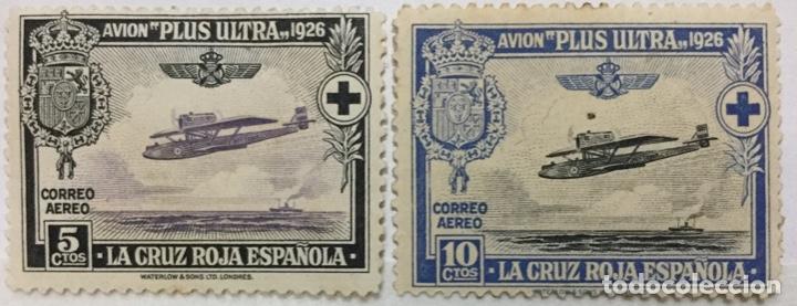ESPAÑA - EDIFIL 339/340 - NUEVO Y USADO - CON FIJASELLOS Y GOMA (Sellos - España - Alfonso XIII de 1.886 a 1.931 - Nuevos)