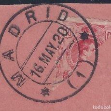 Sellos: EDIFIL 269 ALFONSO XIII. TIPO MEDALLÓN. 1909-1922 (VARIEDAD..SELLO BISECTADO) FECHADOR MADRID. LUJO.. Lote 181631266