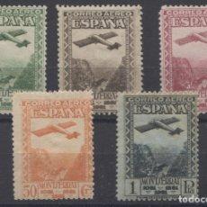 Sellos: 1931.- MONASTERIO DE MONTSERRAT CORREO AÉREO- EDIFIL 650/654. Lote 183087161
