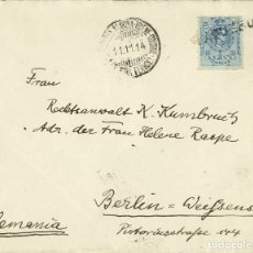 Sellos: ESPAÑA. ALFONSO XIII. ALFONSO XIII. MATASELLO LINEAL PAQUEBOT. MAGNIFICA. REF: 26412. Lote 183116455