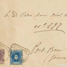 Sellos: ESPAÑA. ALFONSO XIII CORREO CERTIFICADO. SOBRE 245, 248. 1903. 15 CTS Y 25 CTS. CERTIFICADO DE PALM. Lote 183116632