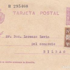 Sellos: TARJETA POSTAL: 1930 BARCELONA - BILBAO / SELLOS 15 CS / 5 CS EXPOSICION BARCELONA 1929. Lote 183299561
