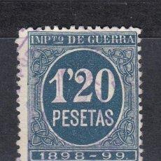 Sellos: IMPUESTO DE GUERRA SELLO DE 1,20 PESETAS USADO. AÑO 1898 (1019). Lote 183517820