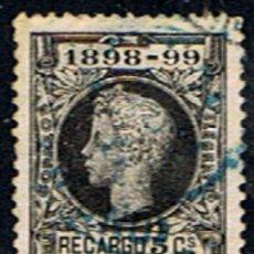 Sellos: SELLO ESPAÑA // EDIFIL 240 // 1898 . RECARGO 5 CTS. .. MARCADO EN AZUL. Lote 183585695
