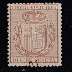 Sellos: TIMBRE MOVIL AÑO 1887 USADO FISCALES (1019). Lote 183714453