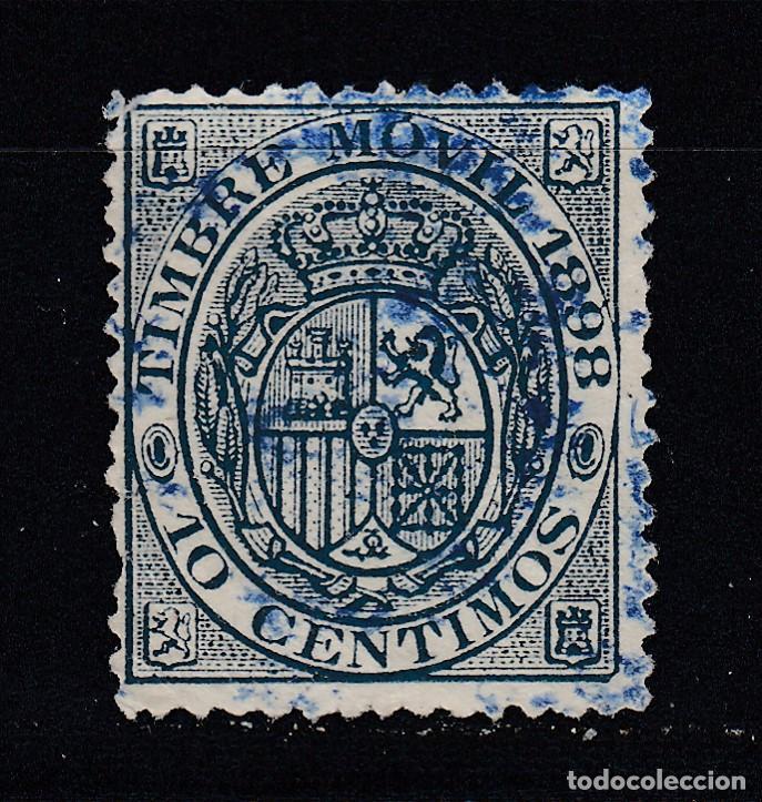 TIMBRE MOVIL AÑO 1898 USADO FISCALES (1019) (Sellos - España - Alfonso XIII de 1.886 a 1.931 - Usados)