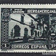 Sellos: 1930 ESPAÑA PRO UNIÓN IBEROAMERICANA - EDIFIL 578 - MH* NUEVO CON SEÑAL DE FIJASELLOS. Lote 183950182