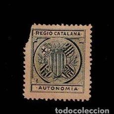 Timbres: VN1-C16-1 NACIONALISTAS SEPARATISTAS REGIO CATALANA AUTONOMIA NATHAN Nº 16 AZUL SOBRE PAPEL CASTAÑO. Lote 184184300