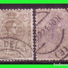 Sellos: 1920 ALFONSO XIII, MEDALLÓN, LITOGRAFIADOS, EDIFIL Nº 289 Y 290 (O) . Lote 184785976