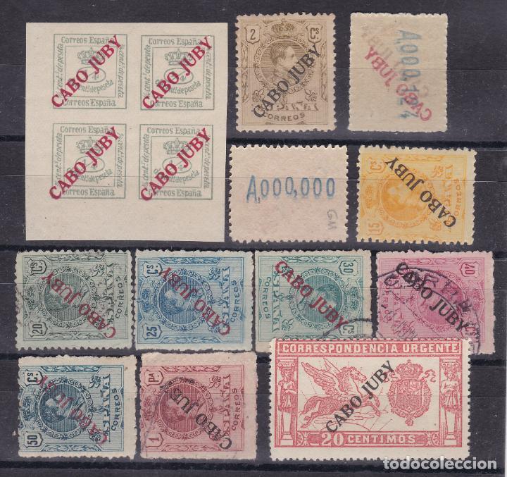 JJ10- DEPENDENCIAS POSTALES. CABO JUBY X 12 VALORES (Sellos - España - Alfonso XIII de 1.886 a 1.931 - Nuevos)