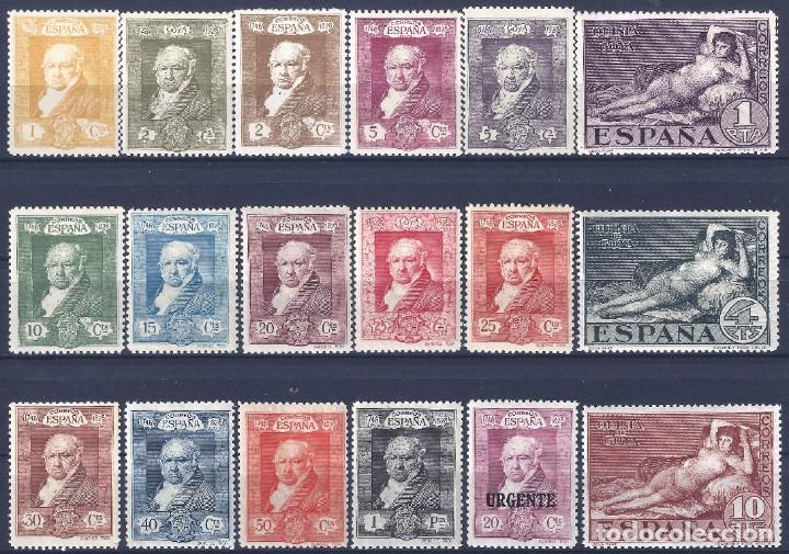 EDIFIL 499-516 QUINTA DE GOYA 1930 (SERIE COMPLETA). VALOR CATÁLOGO: 61 €. LUJO. MLH. (Sellos - España - Alfonso XIII de 1.886 a 1.931 - Nuevos)