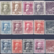 Sellos: EDIFIL 499-516 QUINTA DE GOYA 1930 (SERIE COMPLETA). VALOR CATÁLOGO: 61 €. LUJO. MLH.. Lote 186082972