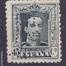 Francobolli: BB4-ALFONSO XIII VAQUER EDIFIL 315B NUEVO (*) SIN GOMA . PERFORADO BLQ. Lote 186181510