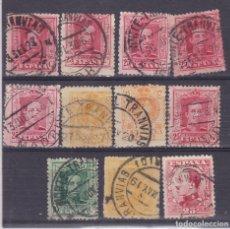 Sellos: TT19-ALFONSO XIII MATASELLOS TRANVIAS X 11 SELLOS. Lote 186191352