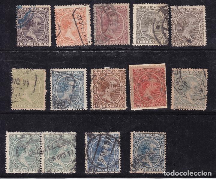 CC31- ALFONSO XIII PELÓN X 14 SELLOS USADOS SIN DEFECTOS OCULTOS (Sellos - España - Alfonso XIII de 1.886 a 1.931 - Usados)