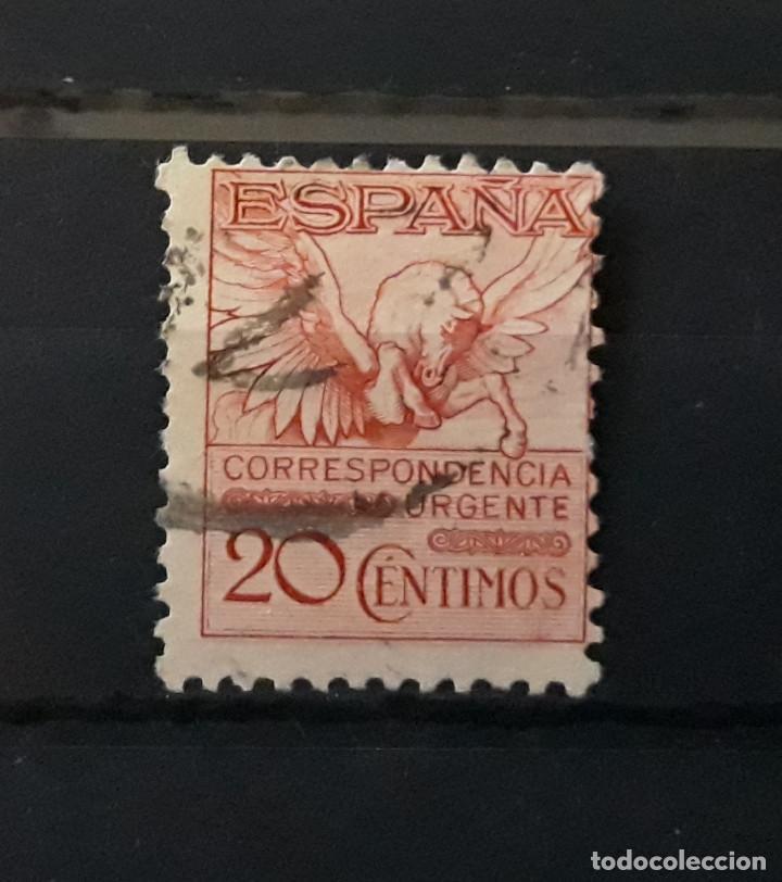 ESPAÑA 1931 USADO PEGASO CON NÚMERO DE CONTROL EDIFIL 592A (Sellos - España - Alfonso XIII de 1.886 a 1.931 - Usados)