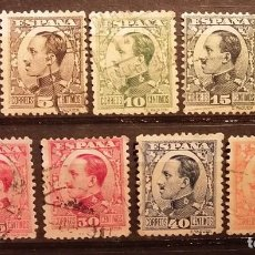 Sellos: 1930-31 - ALFONSO XIII - TIPO VAQUER DE PERFIL - EDIFIL 490 A 498 - 9 VALORES COMPLETA.. Lote 187384560