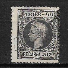 Sellos: ESPAÑA 1898 USADO - 3/6. Lote 187532215