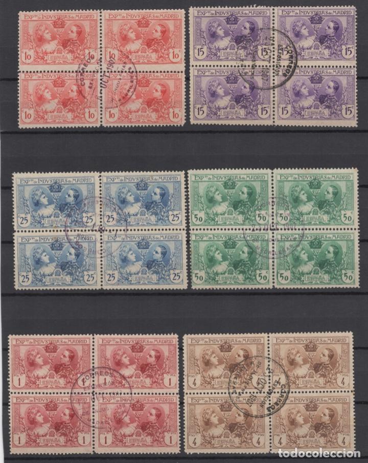 1907 EXPOSICIÓN DE INDUSTRIAS DE MADRID EDIFIL SR 1/6 (º) BLOQUE 4 VC 280€ (Sellos - España - Alfonso XIII de 1.886 a 1.931 - Usados)