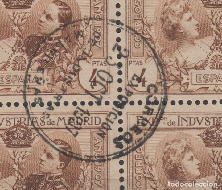Sellos: 1907 Exposición de Industrias de Madrid Edifil SR 1/6 (º) BLOQUE 4 VC 280€ - Foto 2 - 189162820