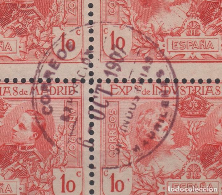 Sellos: 1907 Exposición de Industrias de Madrid Edifil SR 1/6 (º) BLOQUE 4 VC 280€ - Foto 3 - 189162820