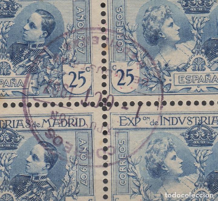 Sellos: 1907 Exposición de Industrias de Madrid Edifil SR 1/6 (º) BLOQUE 4 VC 280€ - Foto 5 - 189162820
