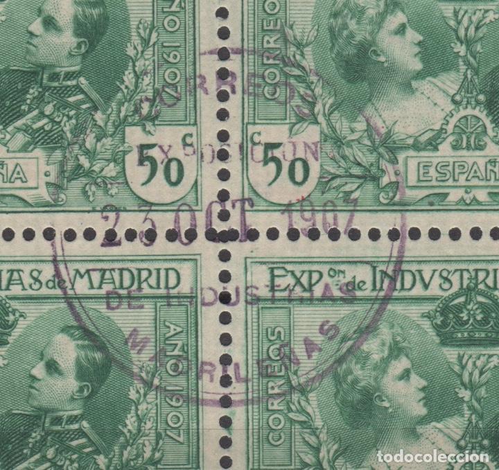 Sellos: 1907 Exposición de Industrias de Madrid Edifil SR 1/6 (º) BLOQUE 4 VC 280€ - Foto 6 - 189162820