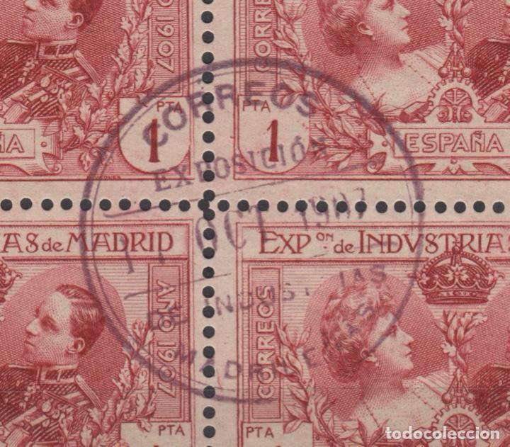 Sellos: 1907 Exposición de Industrias de Madrid Edifil SR 1/6 (º) BLOQUE 4 VC 280€ - Foto 7 - 189162820