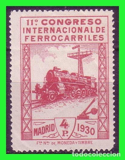 1930 XI CONGRESO INTERNACIONAL DE FERROCARRILES, EDIFIL Nº 480 * (Sellos - España - Alfonso XIII de 1.886 a 1.931 - Nuevos)